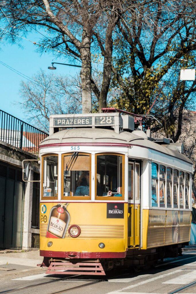 La ligne 28 Tramway Lisbonne